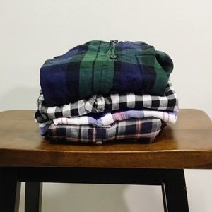 Bundle of Button Down Plaid Tops Size Small